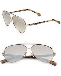 Jimmy Choo - Linas 59mm Metal Aviator Sunglasses - Lyst