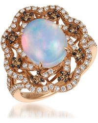 Le Vian - 14k Strawberry Gold & Neopolitan Opal Solitaire Ring - Lyst