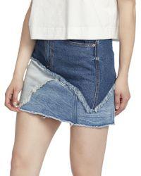 Ella Moss - Jackie Denim Mini Skirt - Lyst