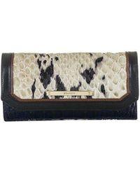 Brahmin - Embossed Leather Checkbook Wallet - Lyst