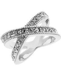 Michela - Rhinestone Accented Ring - Lyst