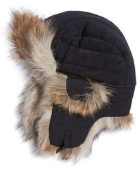 Crown Cap - Faux Fur-trimmed Trapper Hat - Lyst