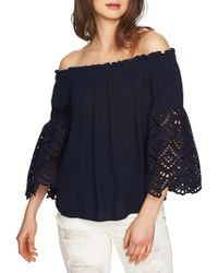 1.STATE - Eyelet Off-shoulder Blouse - Lyst