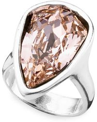 Uno De 50 - Strut Swarovski Crystal Cocktail Ring - Lyst