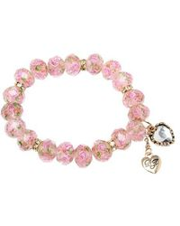 Betsey Johnson - Pink Stretch Bracelet - Lyst