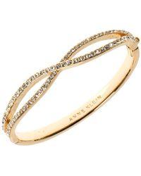 Anne Klein Crisscross Bracelet - Metallic