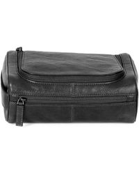 Boconi - Becker Leather Zippered Travel Kit - Lyst