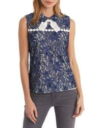 Karl Lagerfeld - Lace Bow-collar Blouse - Lyst