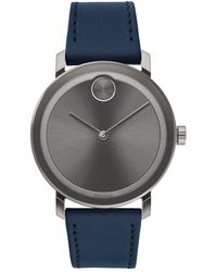891498fec Calvin Klein Bold Stainless Steel And Leather Strap Watch, K5a371gk ...