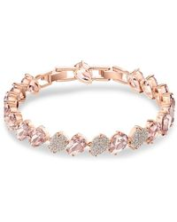 Swarovski - Rose-goldplated Mix Bracelet - Lyst
