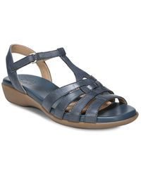 Naturalizer - Nanci T-strap Leather Sandals - Lyst