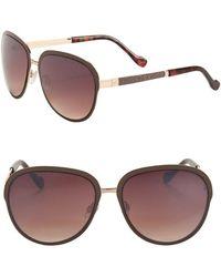Jessica Simpson - 60mm Bridge Bar Aviator Sunglasses - Lyst