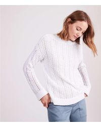 Lou & Grey - Eyelash Stitch Sweater - Lyst