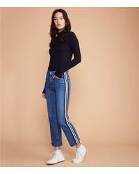Lou & Grey - Side Stripe Straight Leg Jeans - Lyst