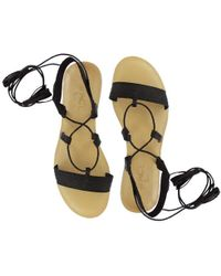 2f9a59e212424b Lyst - L Space Ankle-Wrap Leather Sandals in Metallic
