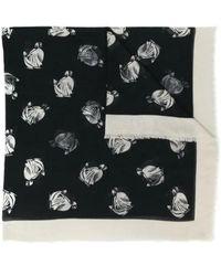 Lanvin Printed Scarf - Black