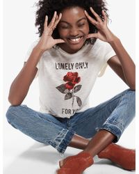 Lucky Brand | Lonely Rose Tee | Lyst