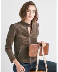 Lucky Brand - Puff Sleeve Cord Jacket - Lyst