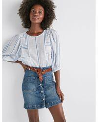 Lucky Brand - Denim A Line Skirt - Lyst