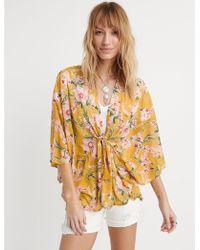 Lucky Brand - Saffon Flower Kimono - Lyst