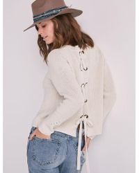 Lucky Brand - Back Lace Pullover Sweater - Lyst