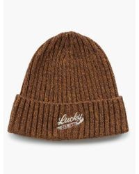 fb0121ee5eb Lyst - Lucky Brand Indian Knit Beanie in Blue for Men