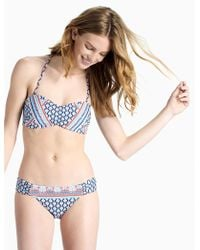 Lucky Brand - Venice Vibes Bandeau Bikini Top - Lyst