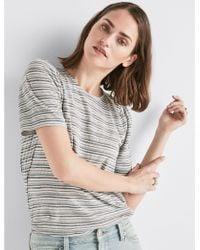 Lucky Brand - Stripe Puff Sleeve Tee - Lyst