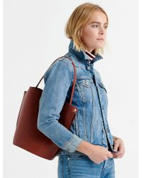 Lucky Brand - Structured Shoulder Bag With Buckle - Lyst