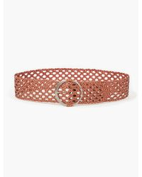Lucky Brand - Skinny Braided Stud Belt - Lyst