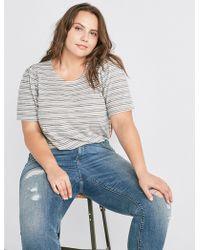 Lucky Brand - Stripe Puff Sleeve Top - Lyst