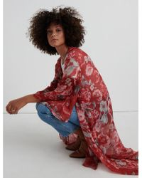 Lucky Brand - Exploded Floral Kimono - Lyst