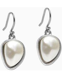 Lucky Brand - Pearl Stud Earring - Lyst