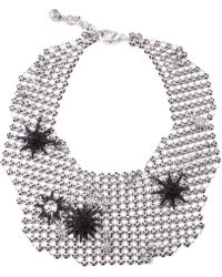 Lulu Frost - Radiant Mesh Necklace Silver - Lyst