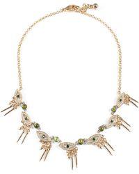 Lulu Frost - Discovery Eye Necklace - Green - Lyst