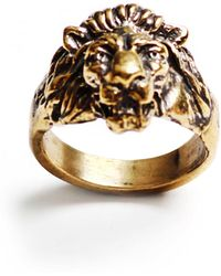 Lulu Frost - George Frost Bravery Lion Ring - Brass - Lyst