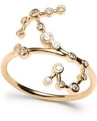 Lulu Frost - Zodiacs 14k & Diamond Scorpio + Water Ring - Lyst