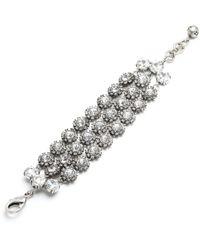 Lulu Frost - Beam Triple Strand Bracelet - Clear - Lyst