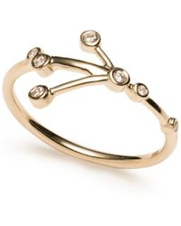 Lulu Frost - Zodiacs 14k & Diamond Cancer + Water Ring - Lyst