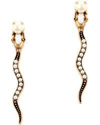 Lulu Frost - Flora Serpent Pearl Drop Earring - Lyst