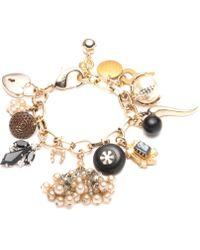 Lulu Frost - Vintage Black & White Cameo Charm Bracelet - Lyst