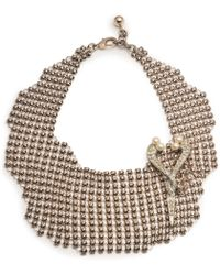 Lulu Frost - Single Mesh Necklace - Gold - Lyst