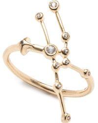 Lulu Frost - Zodiacs 14k & Diamond Taurus + Earth Ring - Lyst