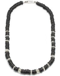 Lulu Frost - George Frost Morse Code Sea Glass Bead Necklace - Stealth - Lyst