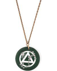 Lulu Frost - Vintage Zodiacs Poker Chip Pendant Necklace - Scorpio Green - Lyst