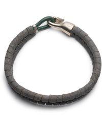 George Frost - Grey Suede Harpoon Bracelet - Lyst