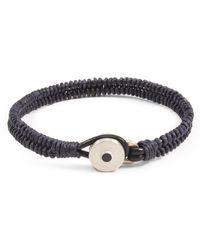 Lulu Frost - George Frost Brave & New Woven Bracelet - Navy - Lyst