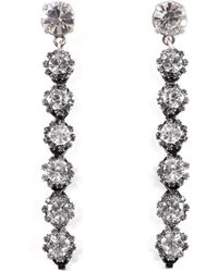 Lulu Frost - Royale Crystal Line Earrings - Lyst