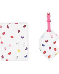 Lulu Guinness - Confetti Lip Print Travel Set - Lyst