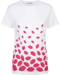 Lulu Guinness - Dégradé Lips Tara T-shirt - Lyst